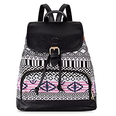 ba11e65f5f best Vbiger Canvas Backpack for Women   Girls Boys Casual Book Bag Sports  Daypack