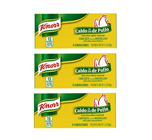Knorr Chicken Flavor Bouillon Cubes 8 Count Box (3 Pack)