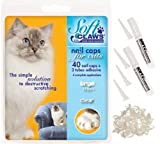 Soft Claws CLS Nail Caps For Cats - Feline Take-Home Kit - Clear - Small 6-8 lbs