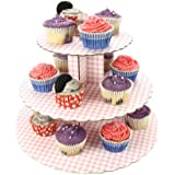 Cupcake Stand - 3 Tier Pink Gingham