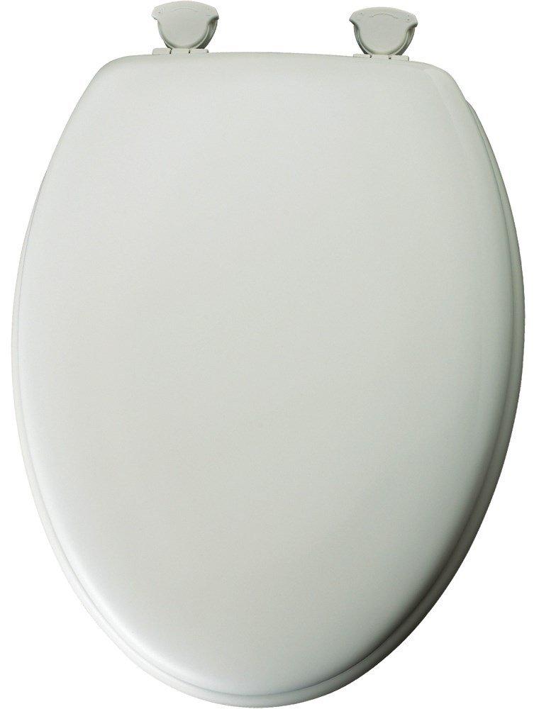 Mayfair 144ECA-000 White Elongated Traditional Wood Toilet Seat