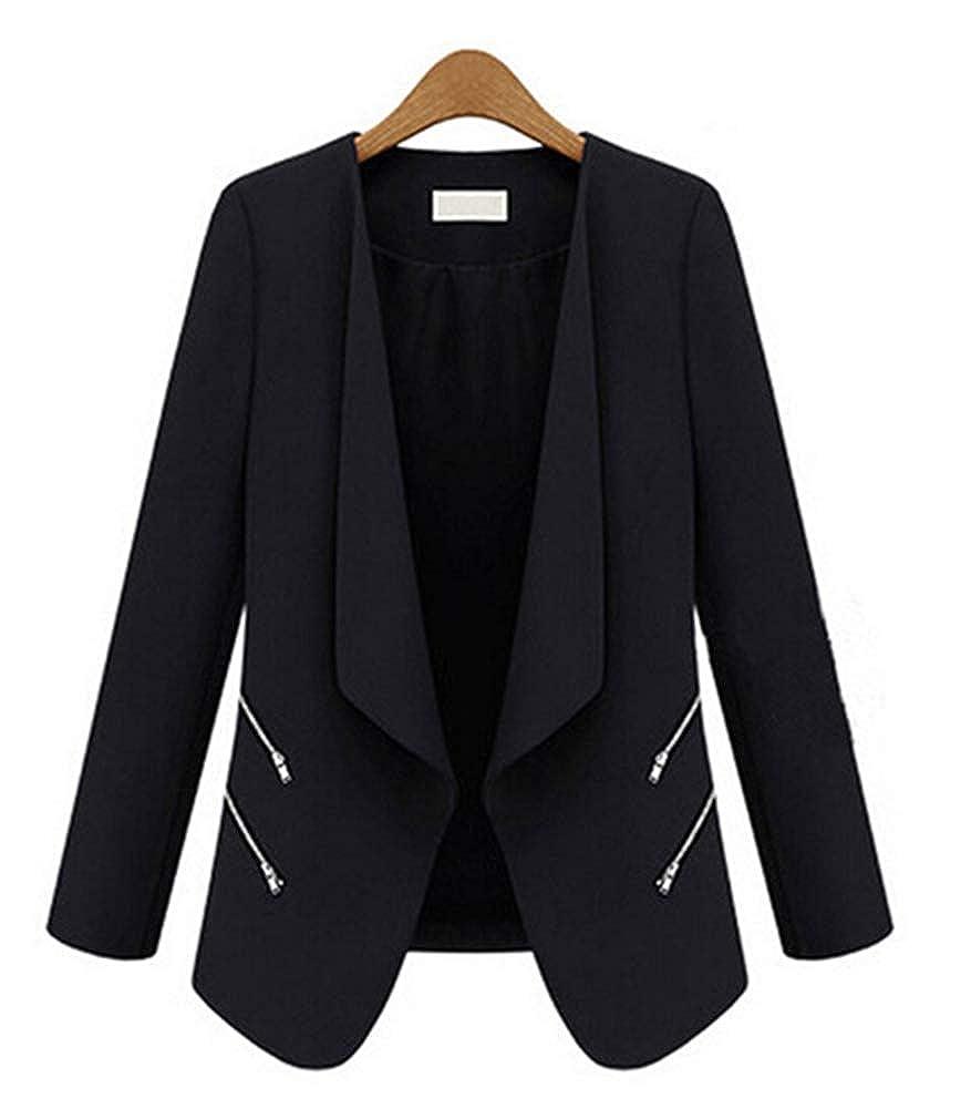 3af7aae5e91 MissBloom Women's Casual Long Sleeve Open Front Cardigan Office Work ...
