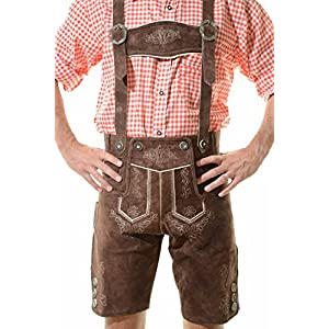 Men's Bavarian Lederhosen Tracht Oktoberfest Lederhosen For Sale Brown