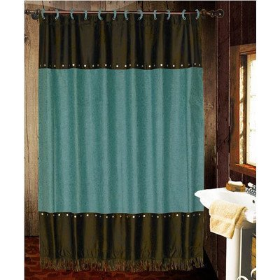 Cheyenne Drapes (HiEnd Accents Cheyenne Shower Curtain, Turquoise by HiEnd Accents)