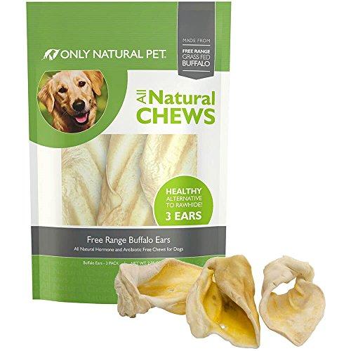 Only Natural Pet Buffalo Ears Single Bag (3 Chews)