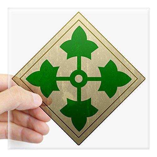 CafePress 4Th Infantry Div - Vintage Square Sticker 3