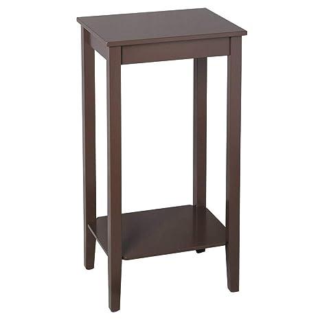 Amazon.com: Binlin - Mesa auxiliar de café, mesa auxiliar ...