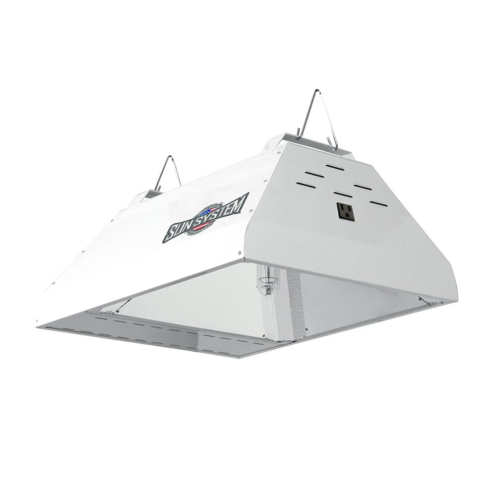 Sun System Grow Lights – LEC 315W 208 240V 3100K Lamp – Indoor Grow Light Fixture for Hydroponic and Greenhouse Use – Philips Green Power Full Spectrum CDM Lamp and Internal Ballast Included