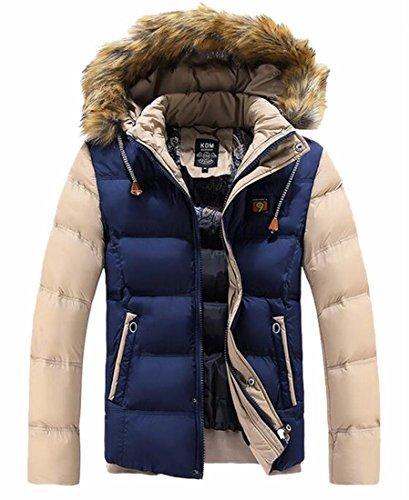 Inverno Faux Caldo 1 Giacca Incappucciato Palla uk Mens Casuale Pesce Oggi Cappotto Outwear zBYqx0