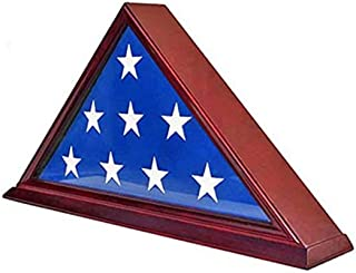 product image for Display Gifts FC06-CH Solid Wood Elegant 5 x 9.5' Flag Display Case for Burial/Funeral/Veteran Flag