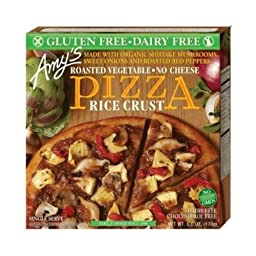 Amys Organic Single Serve Rice Crust Roasted Vegetable Pizza, 5.5 Ounce -- 12 per case.