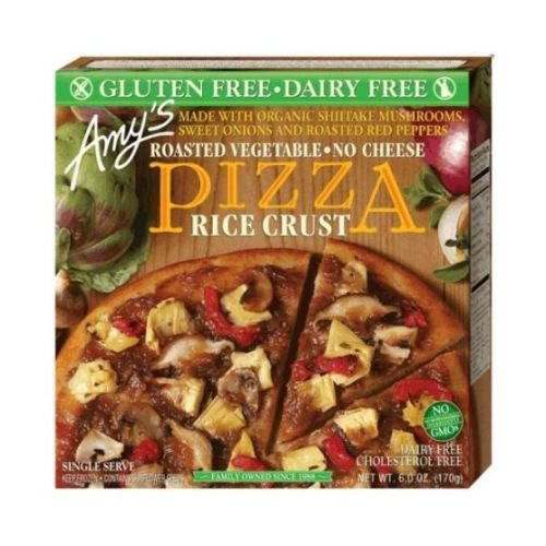 Amys Organic Single Serve Rice Crust Roasted Vegetable Pizza, 5.5 Ounce - 12 per case.