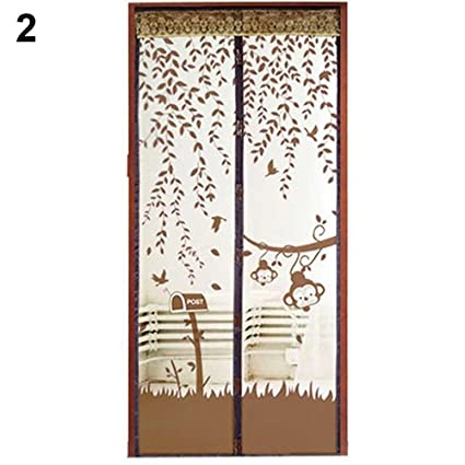Sukisuki Hands-Free Magnetic Flying Insect Door Screen Mesh Curtain Mosquito Net size 90cm x 210cm (Blue)