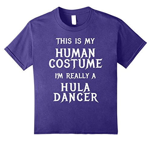 Kids I'm Really a Hula Dancer Halloween Shirt Funny Easy Costume 12 Purple