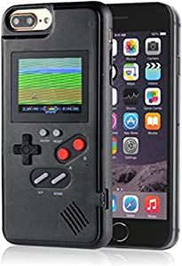 Color Display Video Game Cover Case for iPhone 8 Plus for Men Child Kids Boys, VOLMON Shockproof Case Cover 3D for iPhone 7 Plus, Retro Gameboy Case for iPhone 6P/6SP/7P/8P, 5.5 Inch