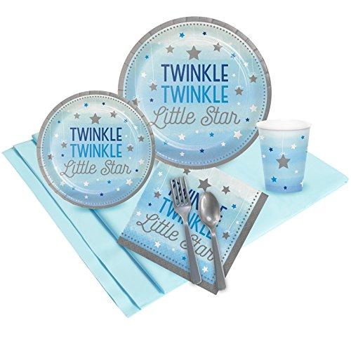 BirthdayExpress Twinkle Twinkle Little Star Blue Party Pack
