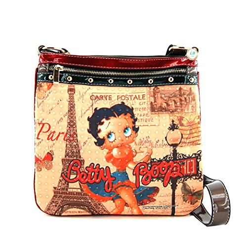 Betty Boop Messenger Bag, Betty Boop in Paris, BQ9901 (Bronze NY)