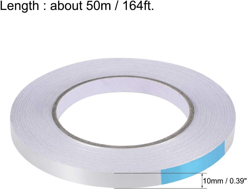 sourcing map Nastro adesivo in alluminio resistente al calore 10mm x 50m 164ft