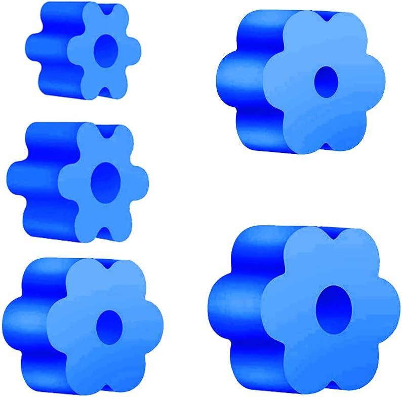 5er Pack 1,75//2,44//2,83//3,42//3,74 Zoll Durchmesser Foam Inserts Set f/ür Becher Flaschen Cups Cup Turner Foam Blue Cup Turner Inserts Zubeh/ör geeignet f/ür 3//4PVC-Rohre Pipe OD 1,05
