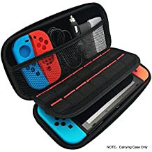 Nintendo Switch Carrying Case with 14 Game Cartridge Holders - Black