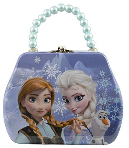 Disney Frozen Tin Mini Purse Box with Beaded Handle and Clasp