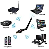 Dreamyth 600 Mbps Dual Band 2.4/5Ghz Wireless USB WiFi Network Adapter 802.11AC w/Antenna,American Warehouse Shipment