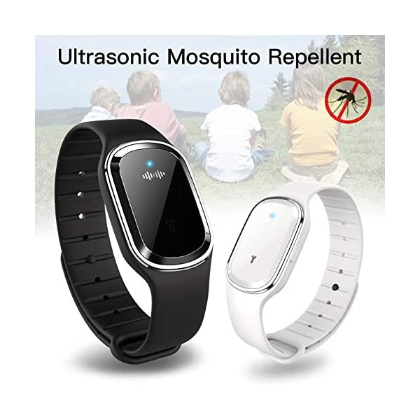 KINJOHI - Braccialetto Repellente elettronico a ultrasuoni per zanzare, Anti-parassiti e Insetti 1 spesavip