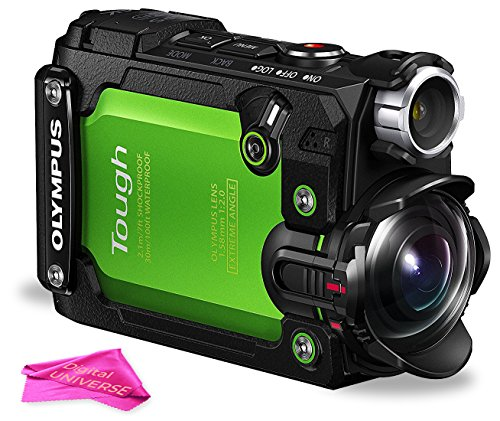 Olympus Stylus TG-Tracker Action Camera 204° Angle with 1.5-Inch LCD, 4K 30P Video, Wi-Fi Enabled (Green) + DigitalUniverse Camera Cleaning Cloth