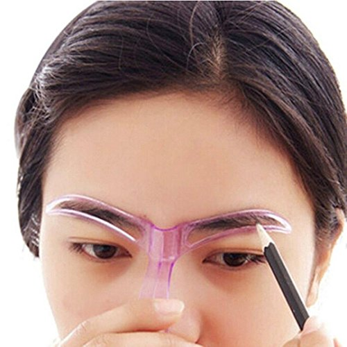 Sankuwen Professional Makeup Grooming Drawing Blacken Eyebrow Template, Random Color