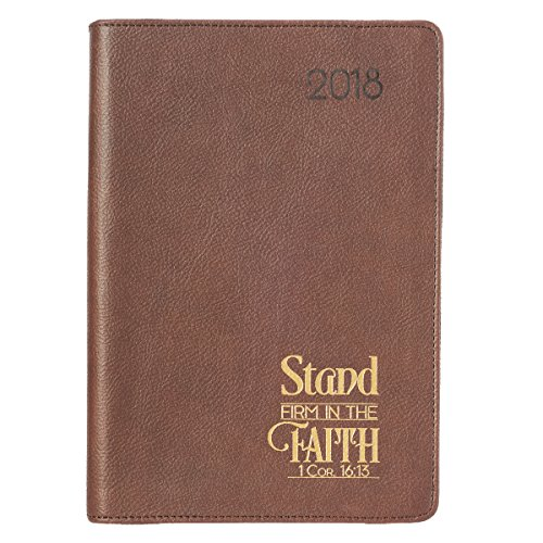 2018 Executive Planner With Zipper, Stand Firm, Brown