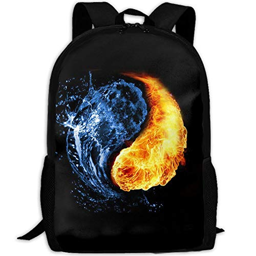 Water FireOn Fire Interest Print Custom Unique Casual Backpack School Bag Travel Daypack Gift from Backpack215