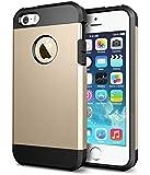 Coque Etui Armor Antichoc Solide et Rigide pour Iphone 5C Gold Doré Coussin d'Air Housse Robuste Anti Choc Facil&co®