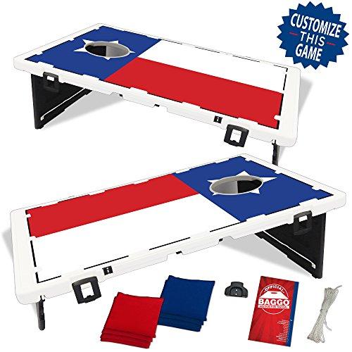 Texas Flag Baggo Bean Bag Toss Portable Cornhole Game ()