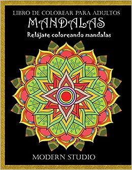 Book's Cover of MANDALAS: Libro de colorear para adultos (Español) Tapa blanda – 9 agosto 2020