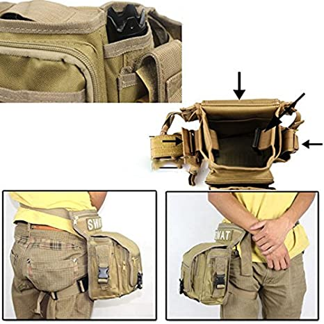 Los hombres de usos m/últiples de entrenamiento militar CS SWAT vnqvyap caminata de caza de la cintura cintur/ón de colour negro con soporte