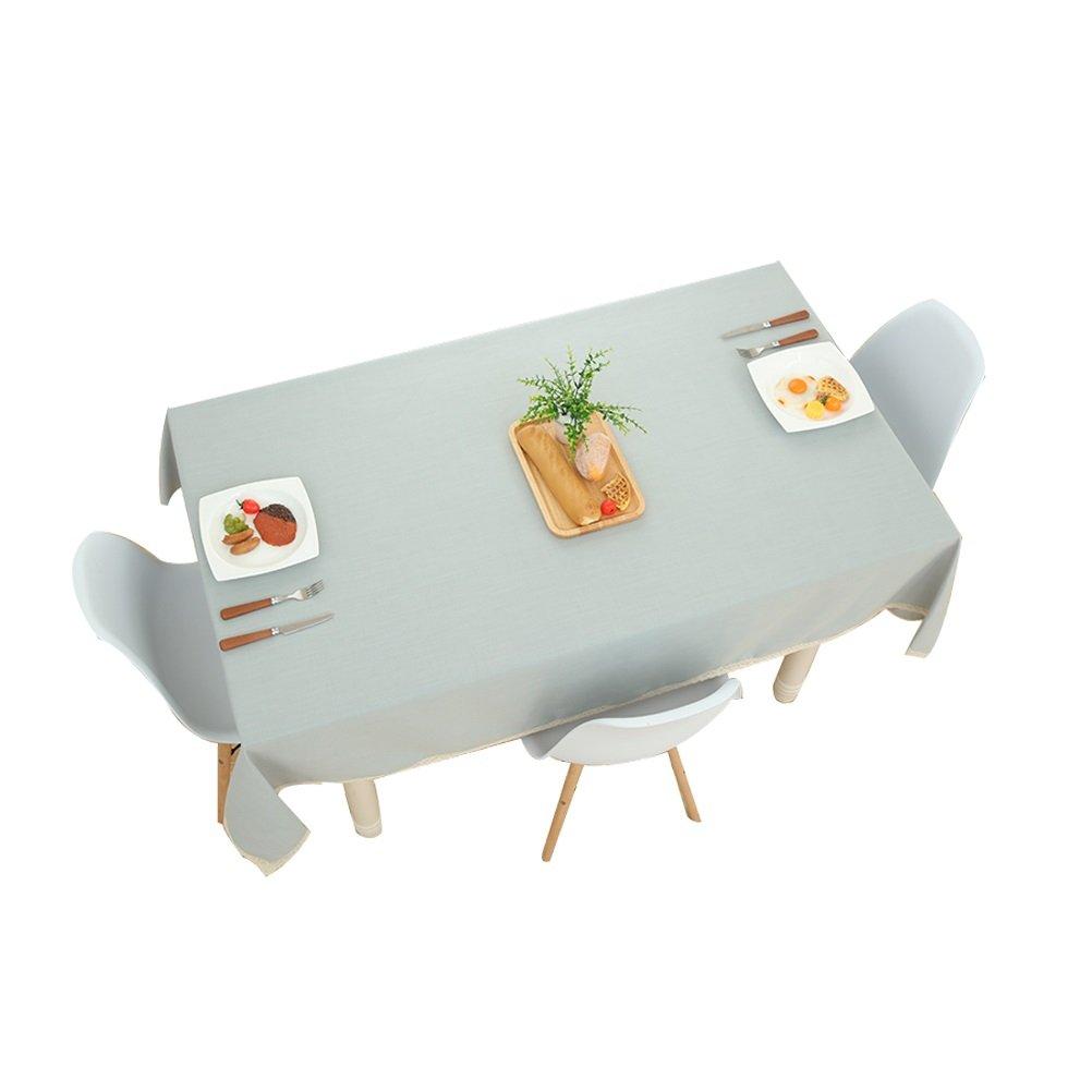 compra nuovo economico Table cloth vbimlxft- Tovaglia nordica in in in Cotone e Lino Impermeabile tovaglia Bordo Pizzo Rettangolare per Cucina di casa Uso Esterno Blu tovaglia (Dimensioni   130x220cm)  migliore offerta