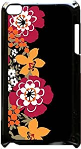 Floral Pattern- Case for the Apple Ipod 4th Generation-Hard Black Plastic