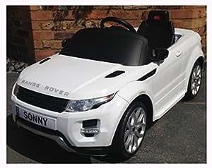 Kids Range Rover Evoque - Licensed 12v Electric / Battery Ride on Car - White by Range Rover Evoque