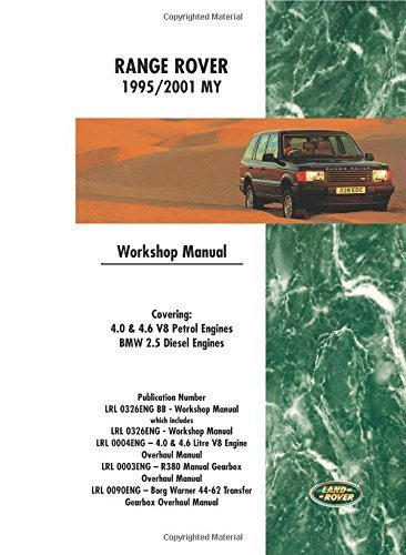 - Range Rover 1995/2001 My Workshop Manual: Covering: 4.0 & 4.6 V8 Petrol Engines Bmw 2.5 Diesel Engines by Brooklands Books Ltd (2007-07-01)