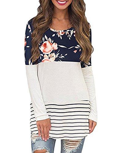 Walant Sleeve Floral Striped Blocked