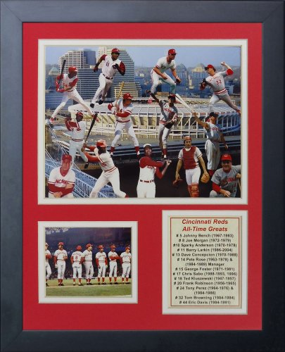 Legends Never Die Cincinnati Reds Greats Framed Photo Collage, 11 by ()