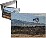 Photo Jigsaw Puzzle of USA, New Mexico, Aermotor windmill and cattle pen