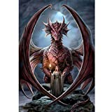 DIY 5D Diamond Painting Kit Full Diamond Dragon Goddess Embroidery Square Resinstone Cross Stitch Arts Craft Supply for Home Wall Decor (Dragon Goddess)