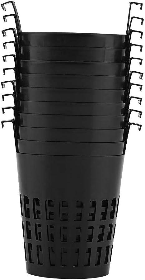 Heavy Duty Plastic Plant Nursery Basket for Balcony Planting Black EOPER Net Slit Pots for Hydroponic Aeroponic Use 20 Pieces Slotted Mesh Pot Hydroponics Cups Plastic Net Cups Pots