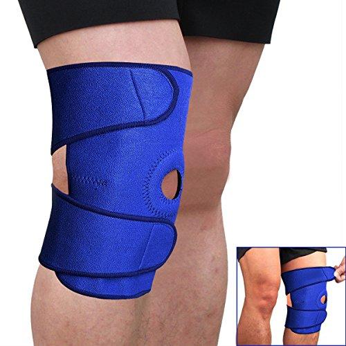 GHP Blue Adjustable Sports Knee Support Patella Sleeve Wrap Brace Cap Stabilizer