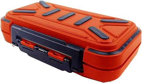 Pesca Caja señuelo Doble Lado Impermeable Cajas de plástico Contenedores Equipos de Pesca Cajas con Muchas Caso Separado Tipo M Amarillo 1pc C: Amazon.es: Deportes y aire libre