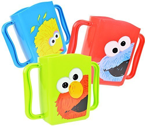 Set of 3 Sesame Street Juice Box Drink Holders (Elmo, Cookie Monster, Big - Adjustable Juice Holder Box