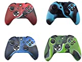 4 Pack of Silicone Xbox one Controller Skin,High Quality Premium Super Grip Protective Skin Case Cover for Xbox one Controller