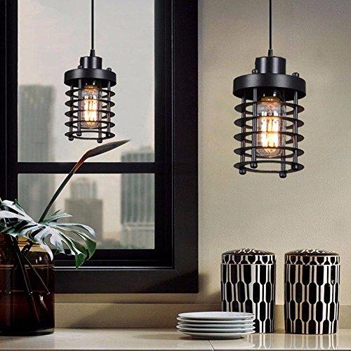 Loft Industrial Retro jaula de metal lámpara de techo colgante Edison candelabro de luz 10 * 10 * 14cm.