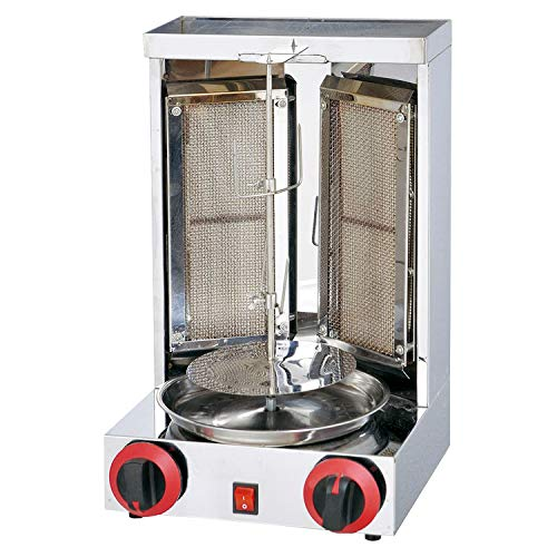 Roaster Burner - Aistan KA25 Barbecue Turkey Doner Kebab Machine Shawarma Roasters Rotisserie Ovens Gas Two Burners
